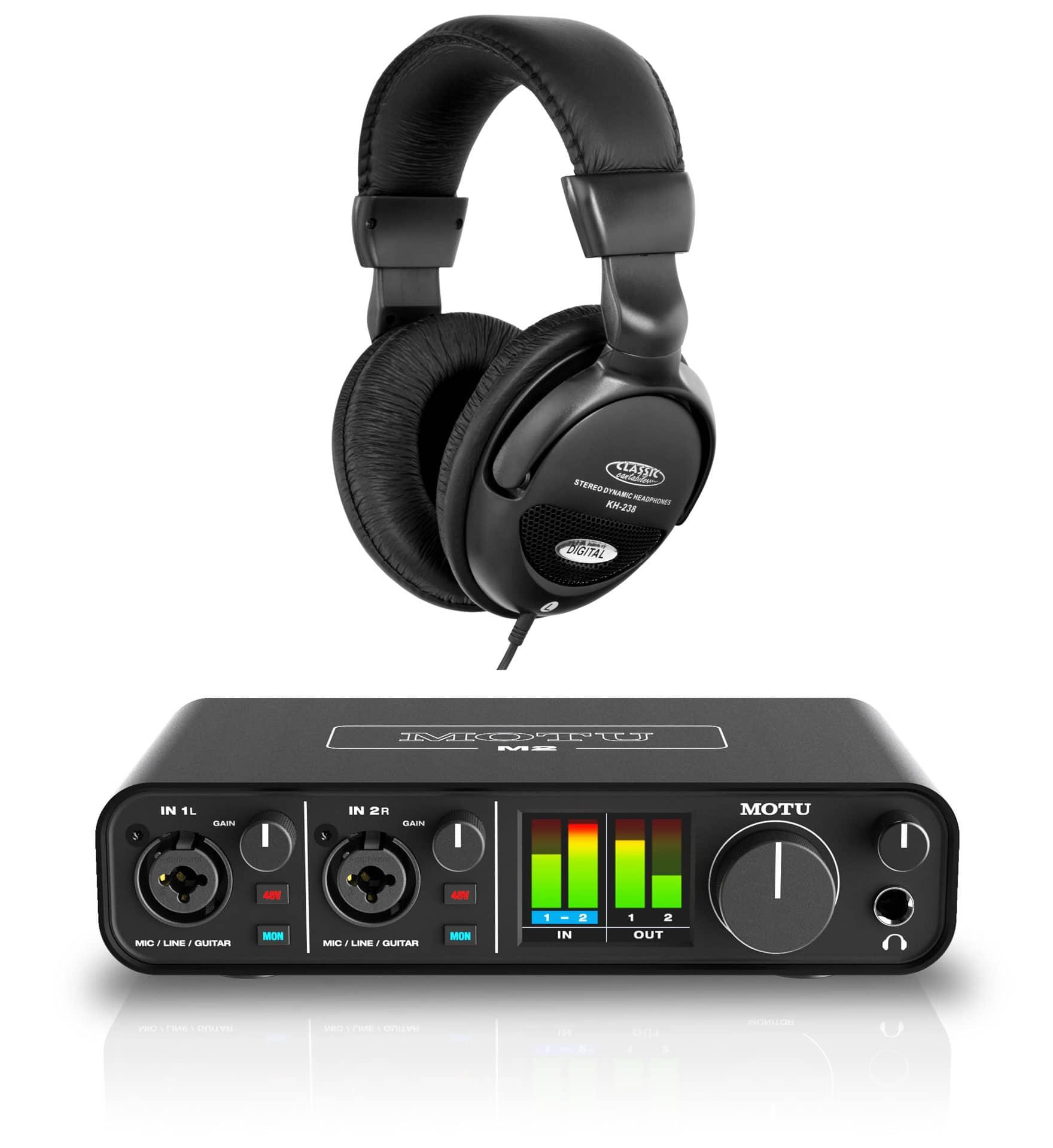 Pchardware - MOTU M2 Audiointerface Set - Onlineshop Musikhaus Kirstein