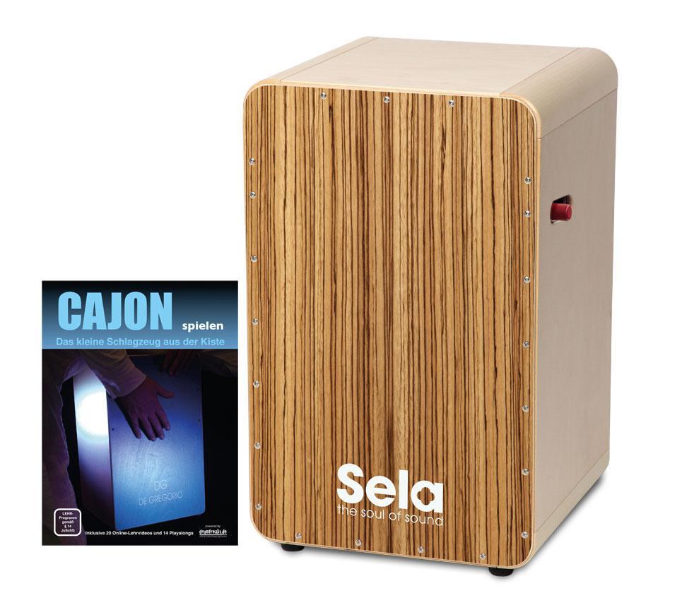 Sela CaSela Pro Cajon Zebrano SET inkl. Cajonschule