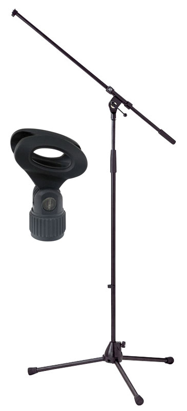 Studiozubehoer - K M 210|2 Mikrofonstativ Schwarz SET inkl. Klemme - Onlineshop Musikhaus Kirstein