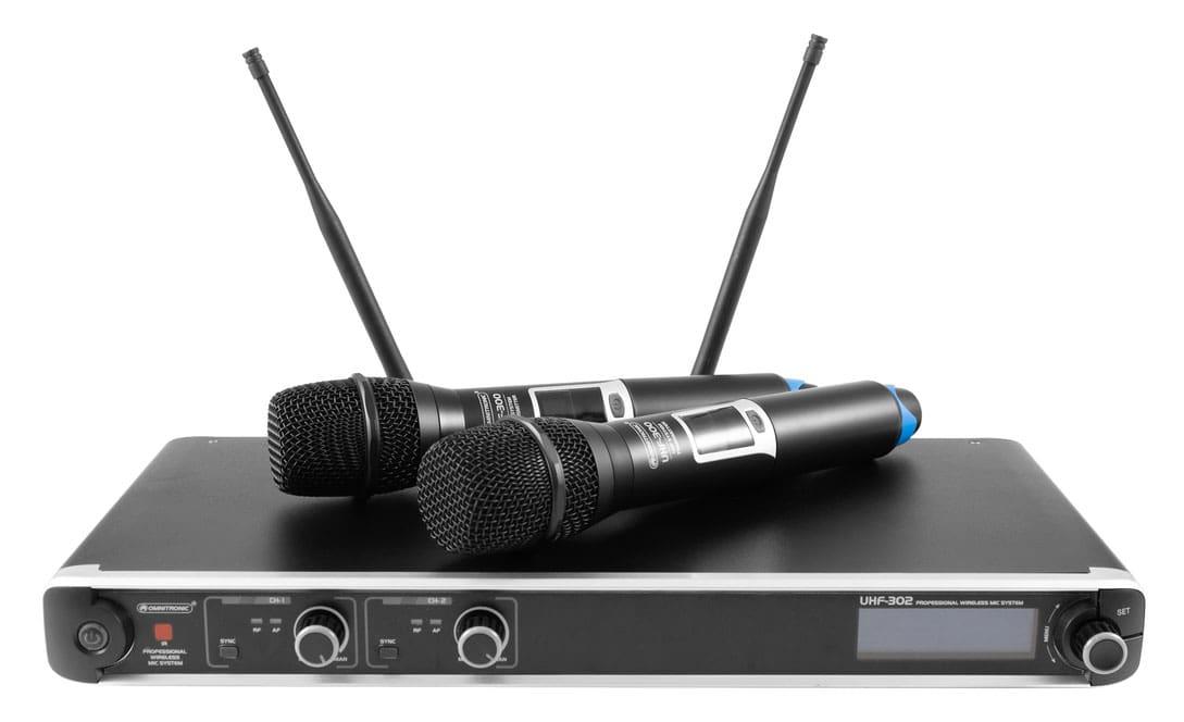 Drahtlossysteme - Omnitronic UHF 302 2 Kanal Funkmikrofonsystem 823 832 863 865MHz - Onlineshop Musikhaus Kirstein