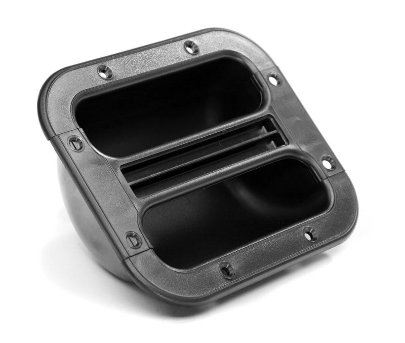 Pronomic Boxengriffschale Kunststoff, Schwarz