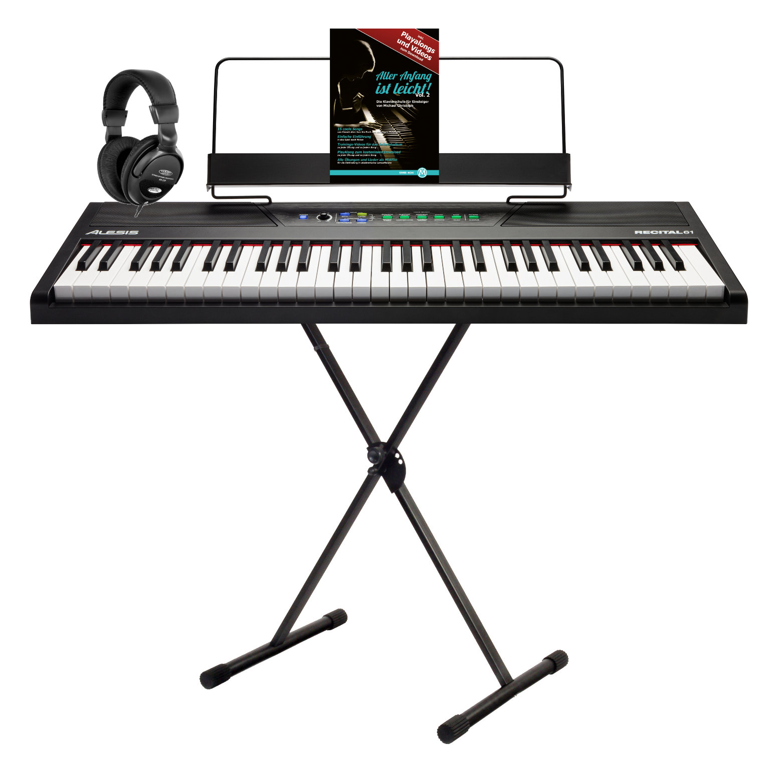 Stagepianos - Alesis Recital 61 Digitalpiano Set - Onlineshop Musikhaus Kirstein