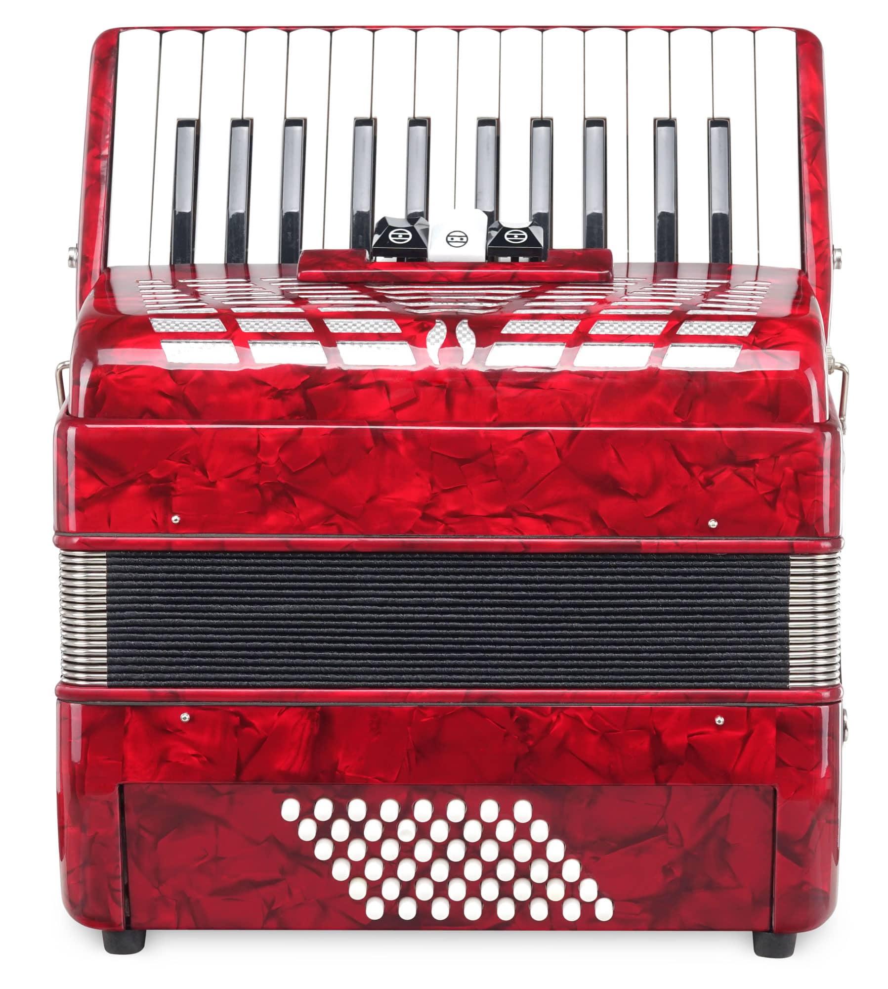 Akkordeons - Classic Cantabile 48 Bass Akkordeon 'Secondo III' rot B Ware - Onlineshop Musikhaus Kirstein