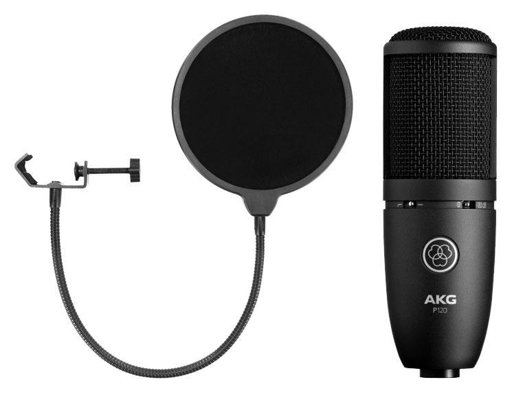 Mikrofone - AKG P 120 Set inkl. Popkiller - Onlineshop Musikhaus Kirstein