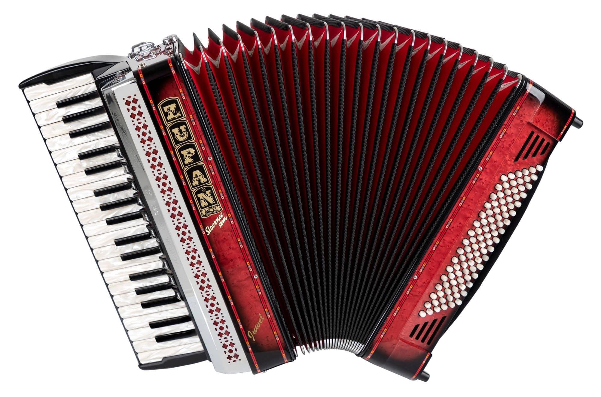 Akkordeons - Zupan Juwel IV 96 MH Akkordeon Shadow Red Retoure (Zustand wie neu) - Onlineshop Musikhaus Kirstein
