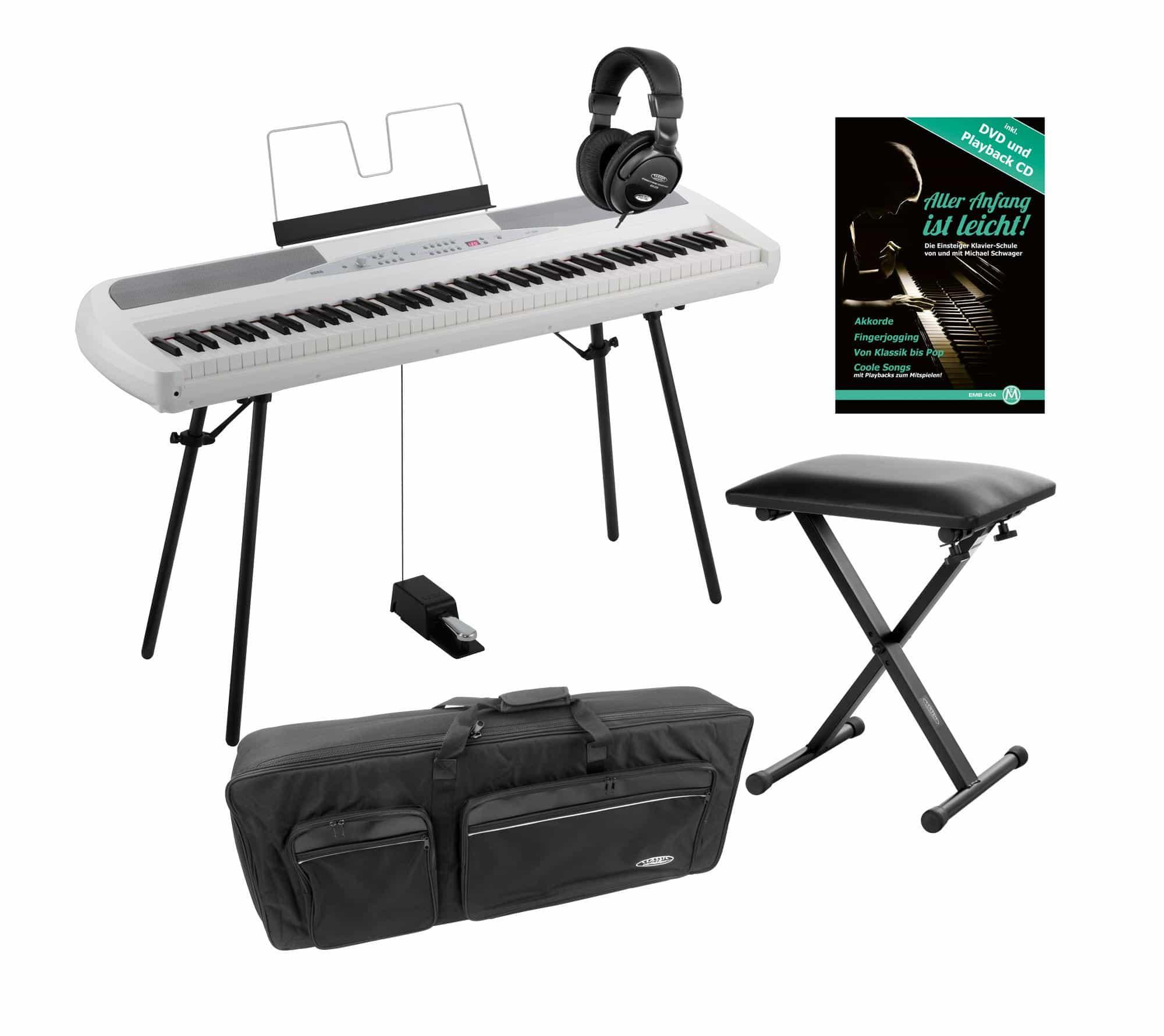 Korg SP 280 WH Portable Piano weiß SET