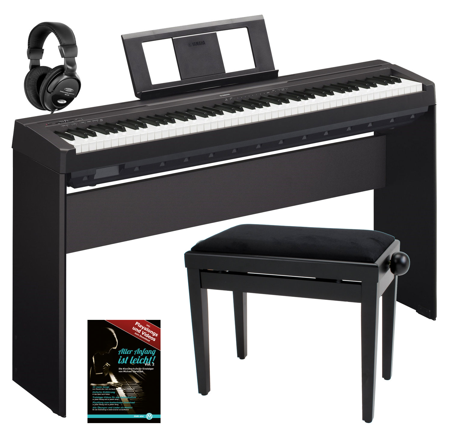 yamaha p 45b stagepiano black home komplettset kirstein. Black Bedroom Furniture Sets. Home Design Ideas