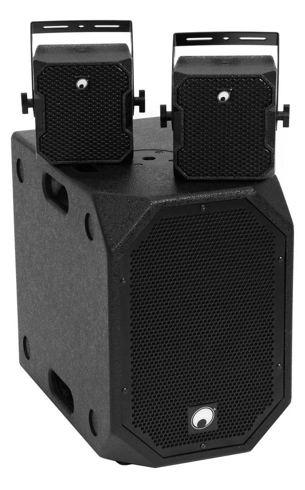 Boxenkomplettanlagen - Omnitronic BOB 2.1 Satelliten Set Schwarz - Onlineshop Musikhaus Kirstein
