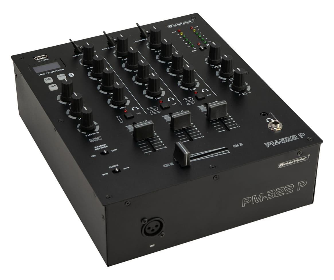 Djmixer - Omnitronic PM 322P DJ Mixer mit Bluetooth MP3 Player - Onlineshop Musikhaus Kirstein