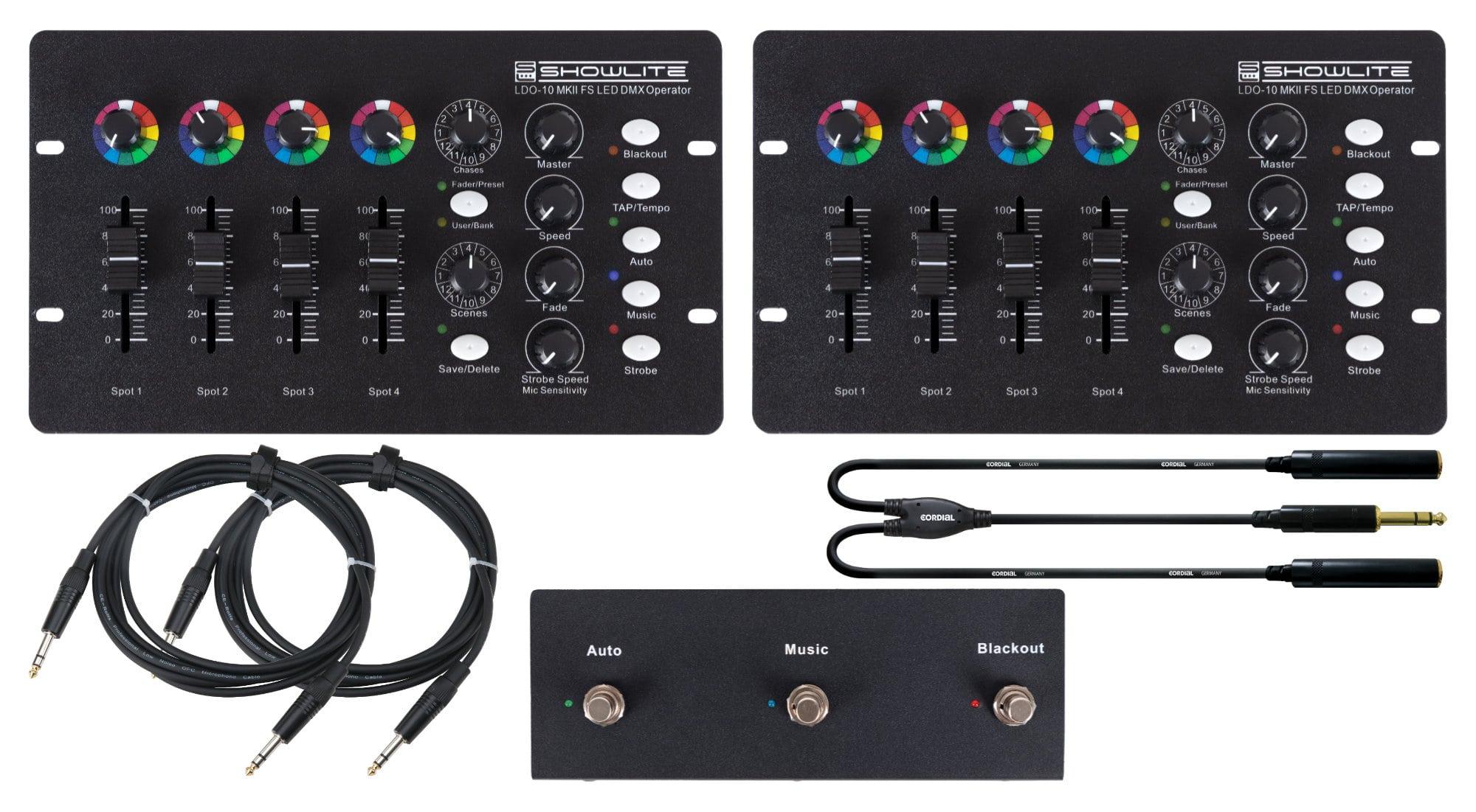 Lichtsteuerung - Showlite LDO 10 MKII FS LED DMX Operator Footswitch Dual Set - Onlineshop Musikhaus Kirstein