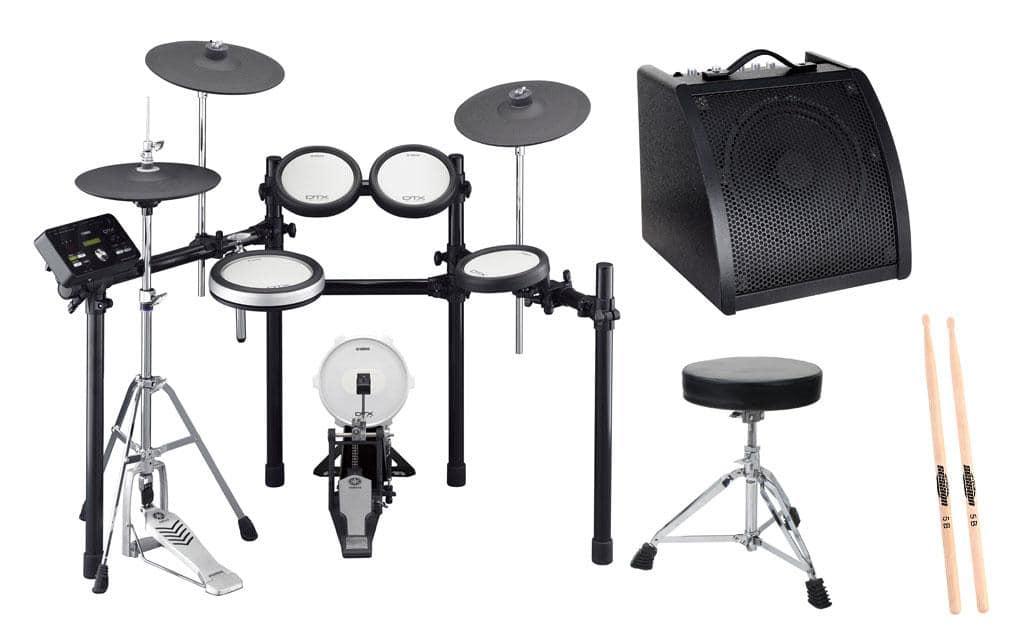 Yamaha DTX582K Compact E Drum Kit SET 2 Hocker, Sticks, Drummonitor