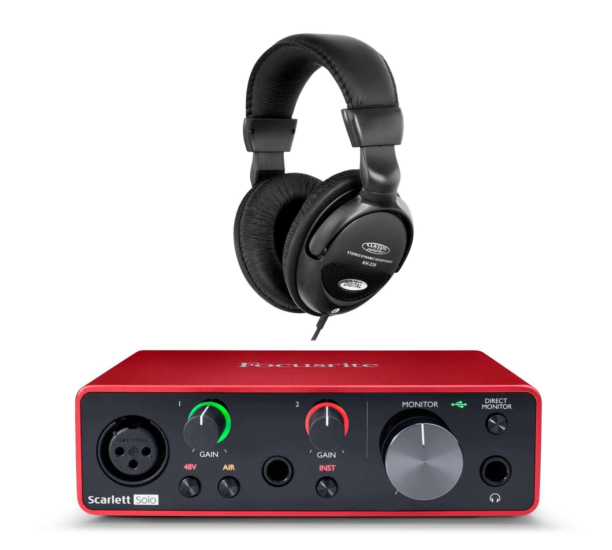 Focusrite Scarlett Solo USB Audio Interface Set