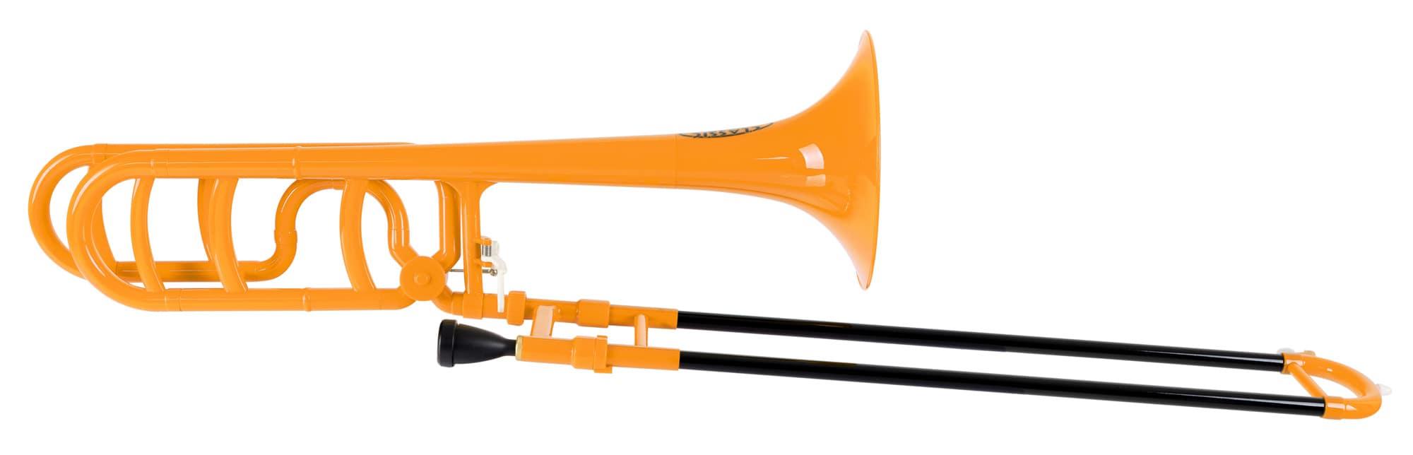 Classic Cantabile MardiBrass Kunststoff Bb|F Quartposaune orange