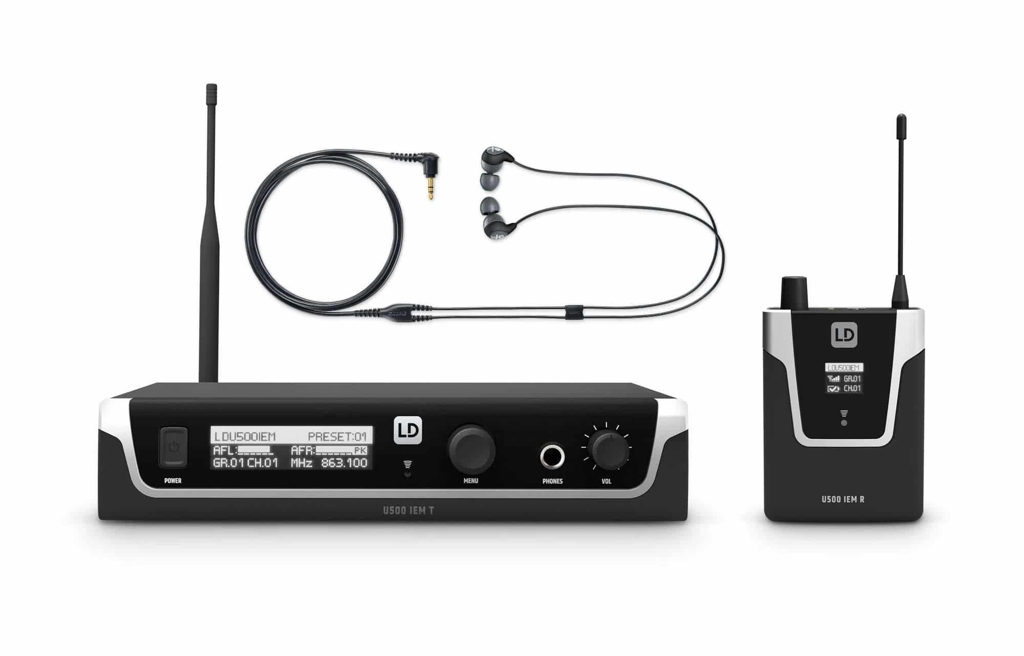 Drahtlossysteme - LD Systems U508 IEM In Ear Monitoring System Set - Onlineshop Musikhaus Kirstein