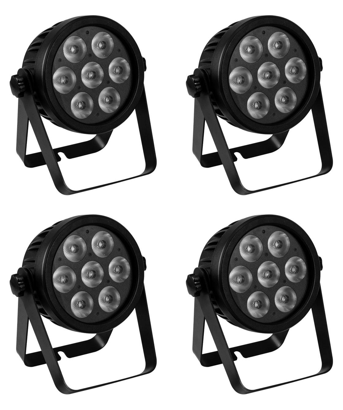 Eurolite LED 7C 7 Silent Slim Spot 4er Set