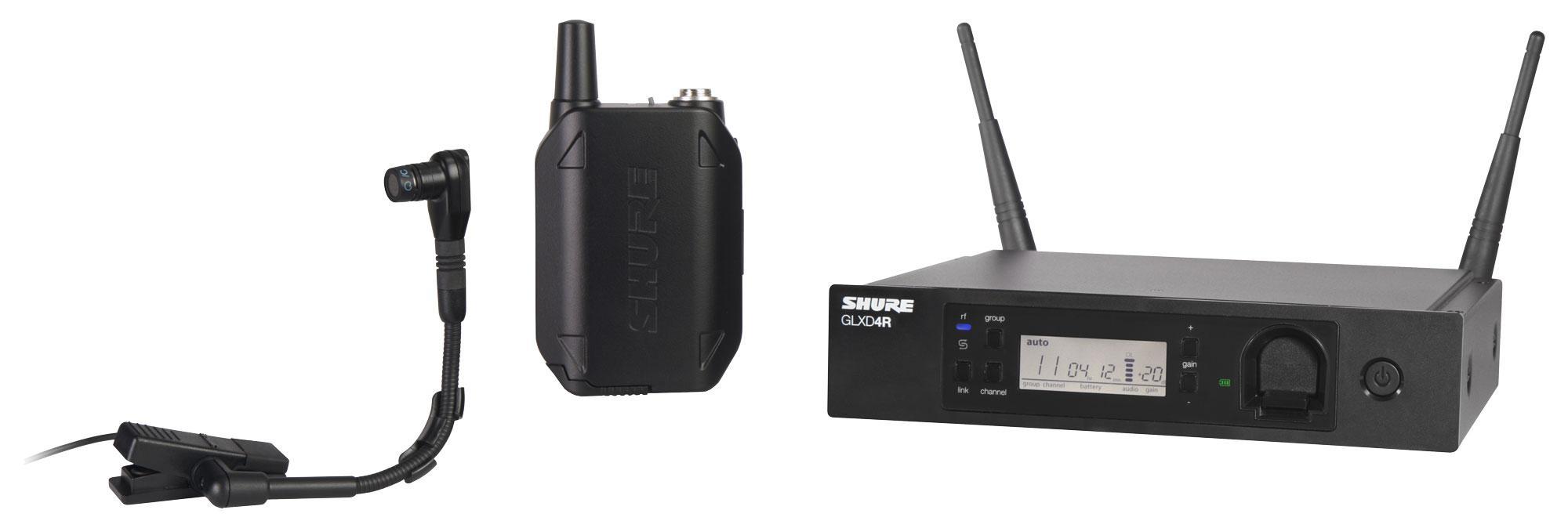 Drahtlossysteme - Shure GLXD14R|BETA98H Digitales Funksystem mit Beta 98H Clip On Mikrofon - Onlineshop Musikhaus Kirstein