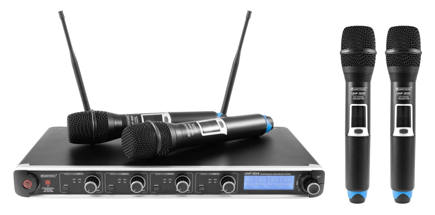 Drahtlossysteme - Omnitronic UHF 304 4 Kanal Funkmikrofonsystem 823 832|863 865MHz - Onlineshop Musikhaus Kirstein