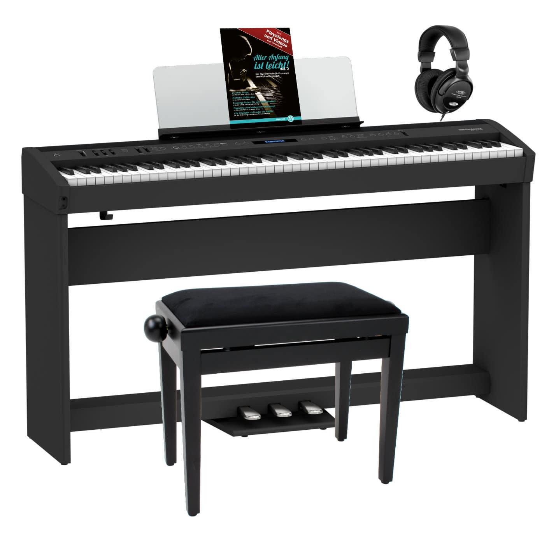 Digitalpianos - Roland FP 60X BK Stagepiano Home Set Schwarz - Onlineshop Musikhaus Kirstein