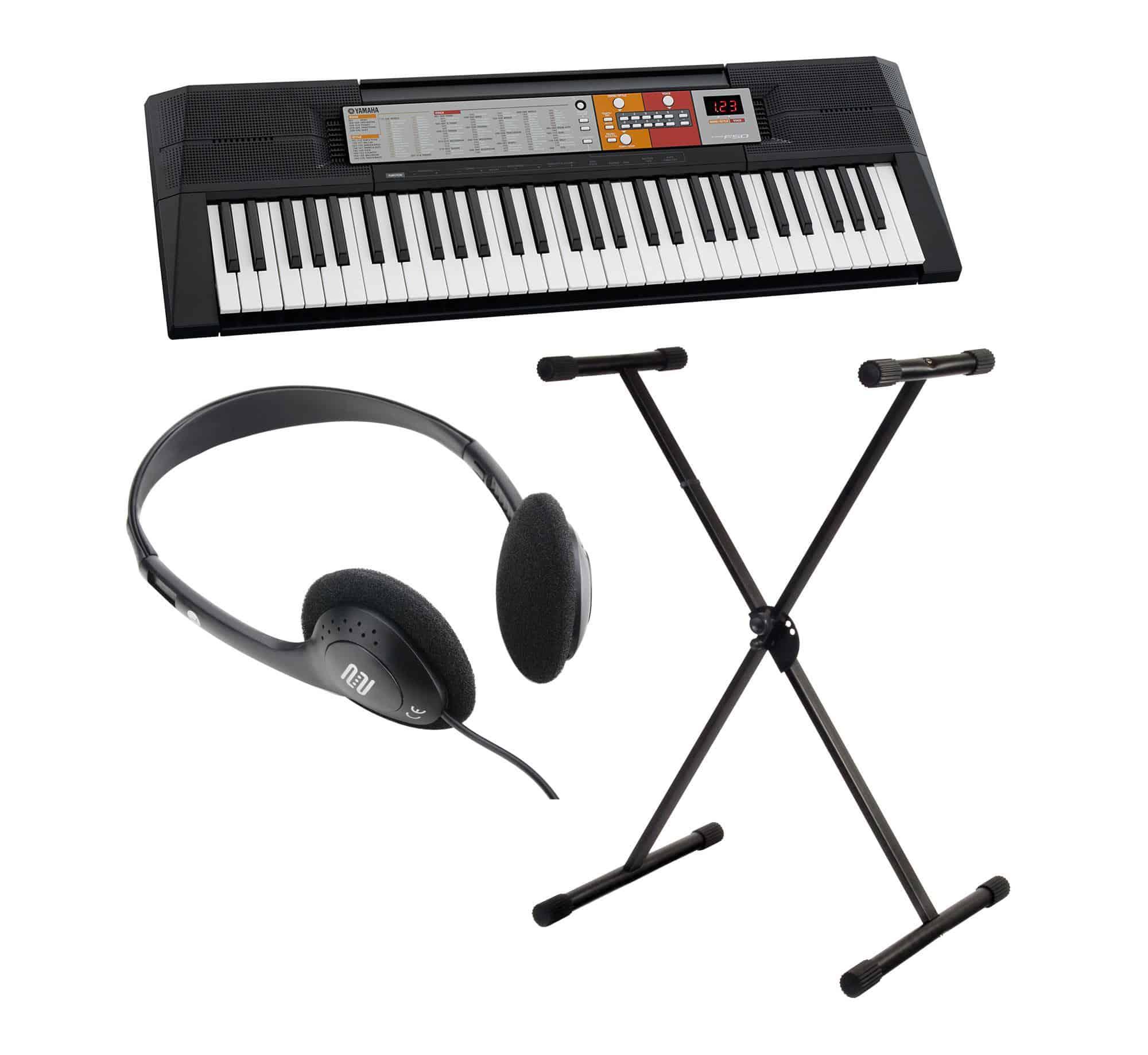 yamaha psr f50 keyboard set mit st nder kopfh rer. Black Bedroom Furniture Sets. Home Design Ideas