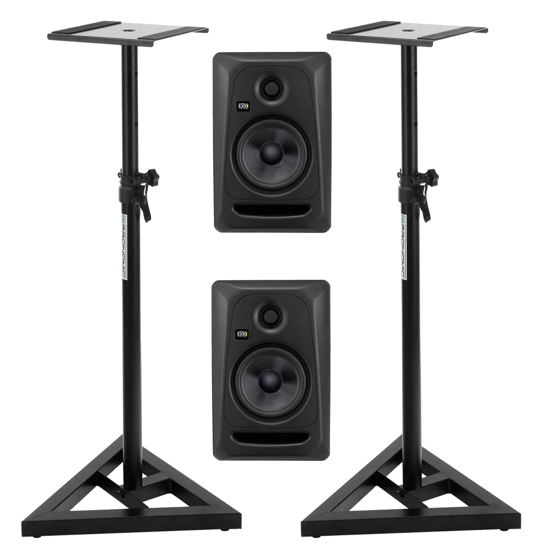 KRK ROKIT RP5 G3 Stealth Edition Studio Monitor Set inkl. Stative