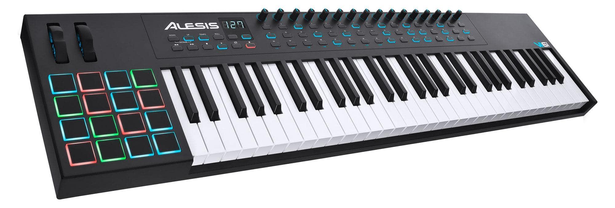 Alesis VI61 USB MIDI Pad|Keyboard Controller mit 61 Tasten