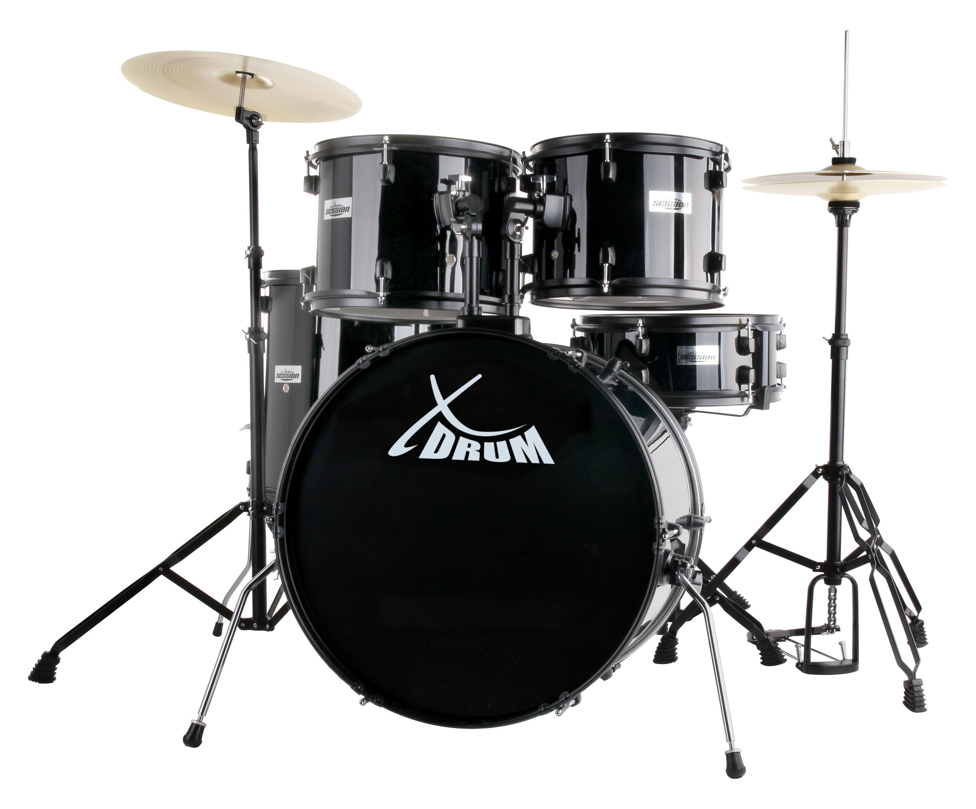XDrum Rookie 22' Standard Schlagzeug Komplettset Black inkl. Schule DVD