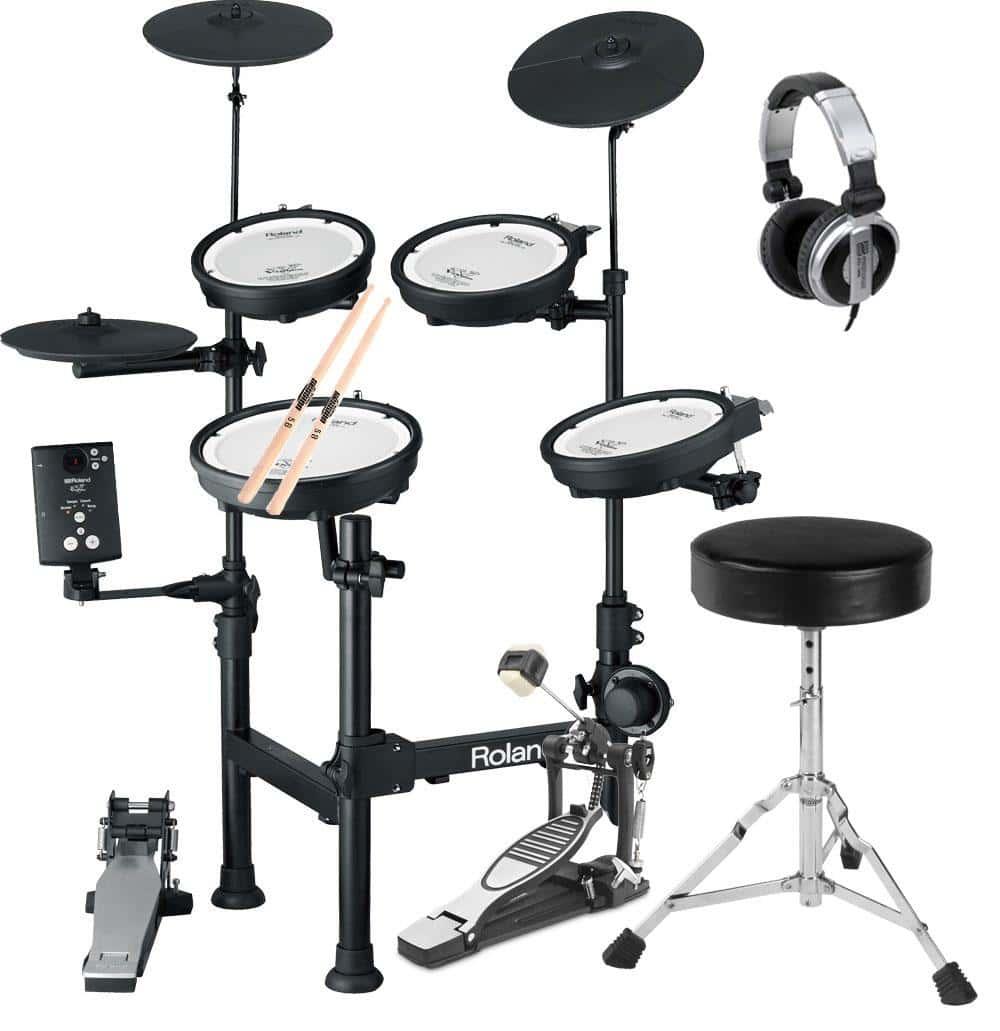 Roland TD 1KPX V Drum Portable E Drum SET Kopfhörer, Hocker, Fußmaschine, Sticks