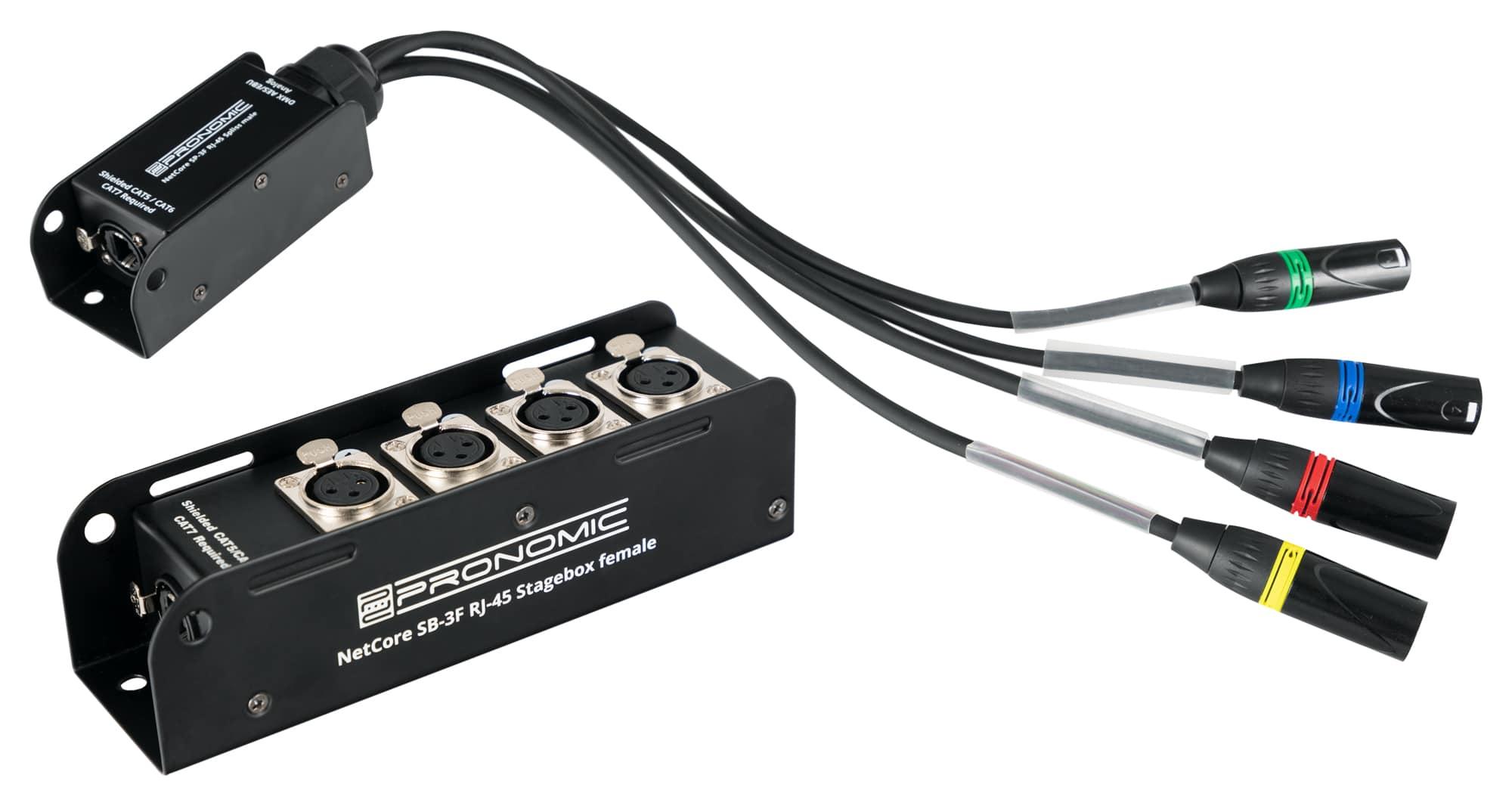 Kabelmulticores - Pronomic NetCore SB 3F|SP 3M Set - Onlineshop Musikhaus Kirstein