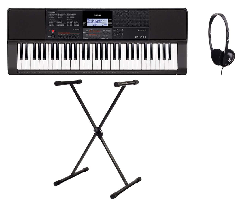 Homekeyboards - Casio CT X700 Keyboard Set inkl. Keyboardständer Kopfhörer - Onlineshop Musikhaus Kirstein