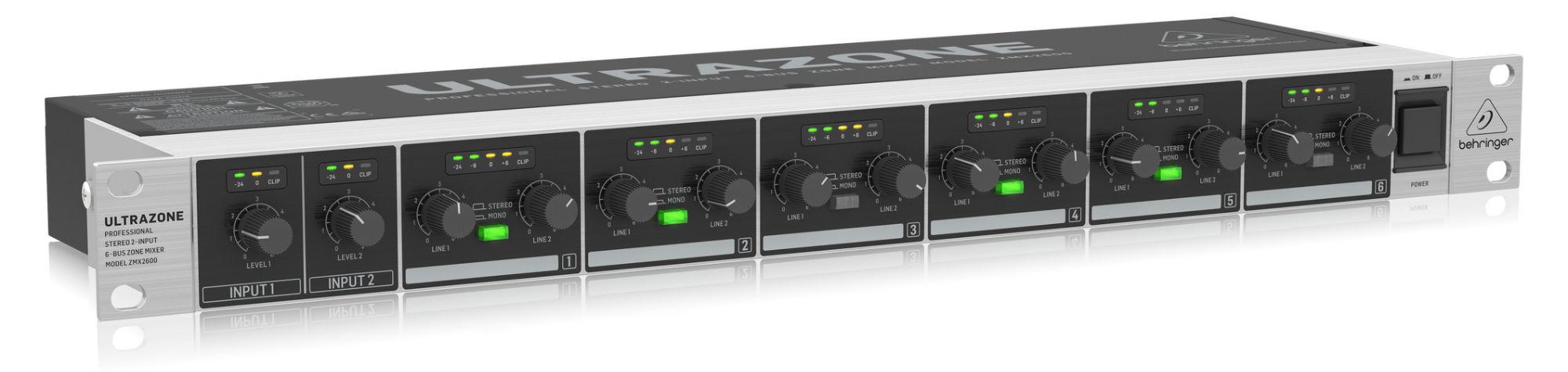 Mischpulte - Behringer ZMX2600 Stereo Zonenmixer - Onlineshop Musikhaus Kirstein