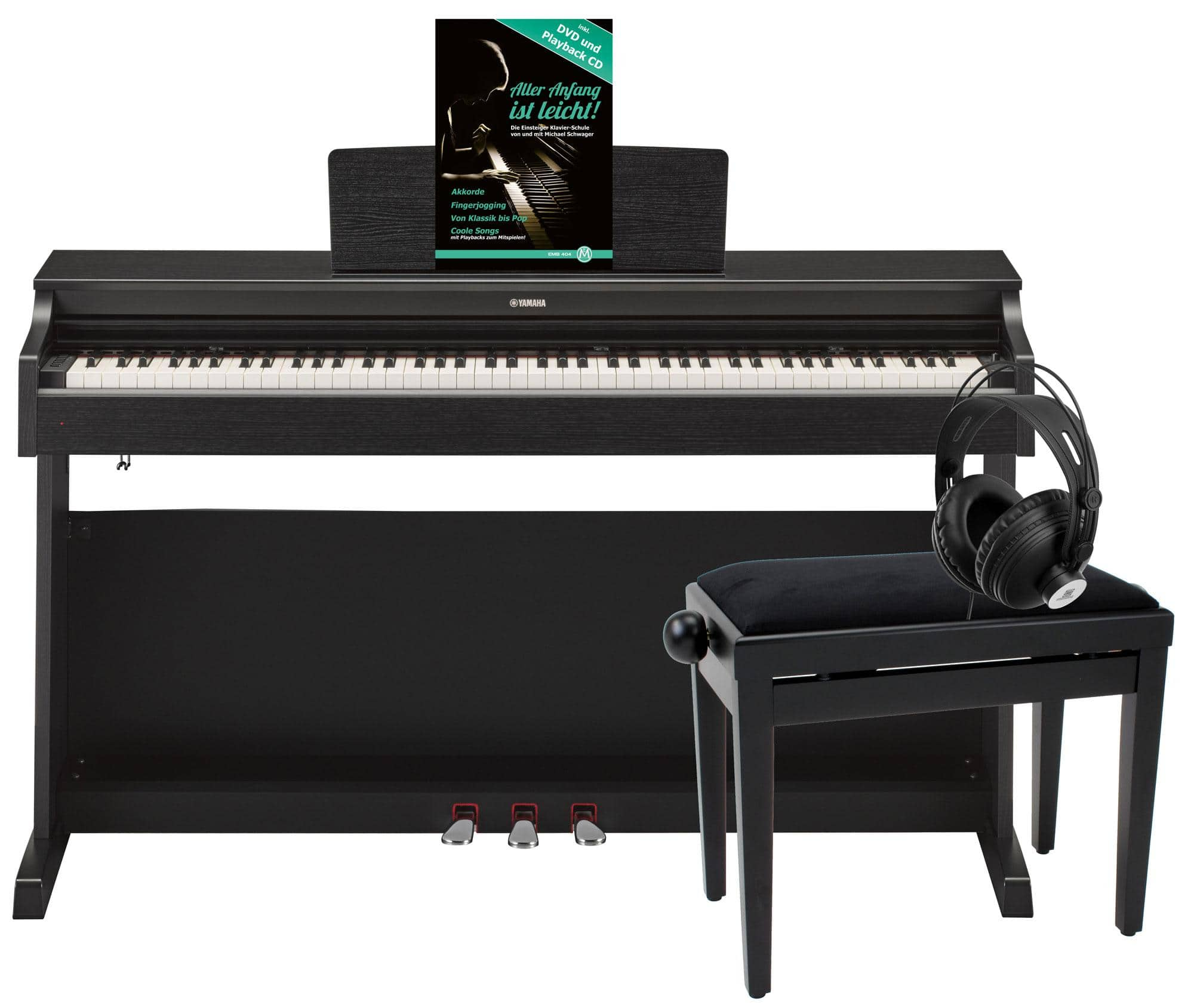 yamaha ydp 163 b arius e piano schwarz matt deluxe set. Black Bedroom Furniture Sets. Home Design Ideas