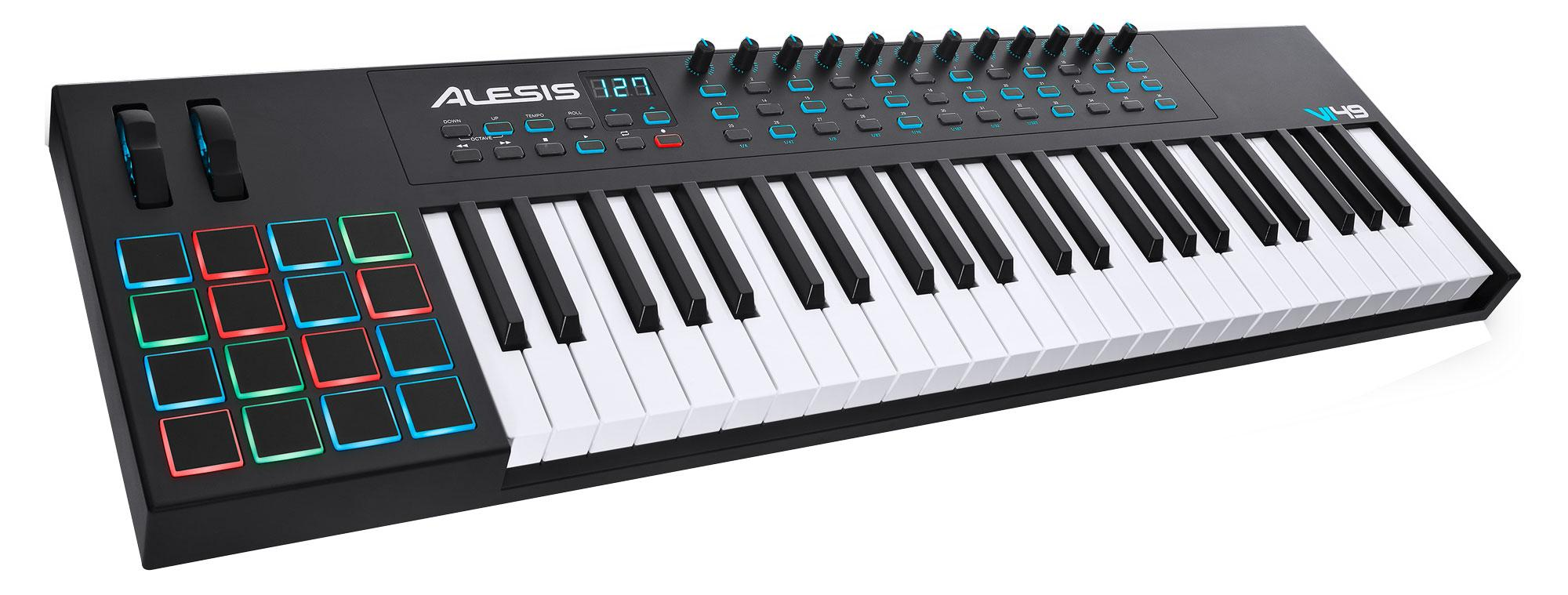 Midimasterkeyboards - Alesis VI49 USB MIDI Pad|Keyboard Controller mit 49 Tasten - Onlineshop Musikhaus Kirstein