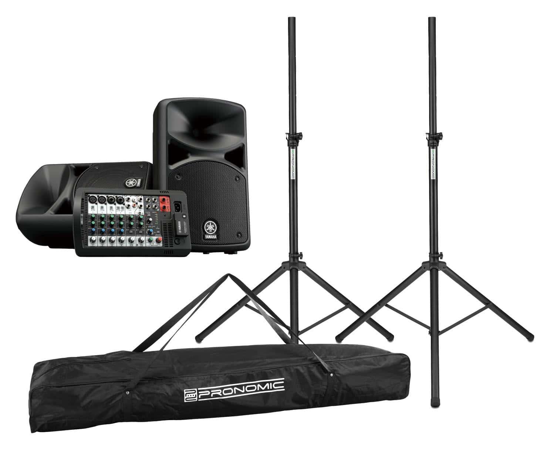 Boxenkomplettanlagen - Yamaha STAGEPAS 400BT Set inkl. Boxenstativ Tasche - Onlineshop Musikhaus Kirstein