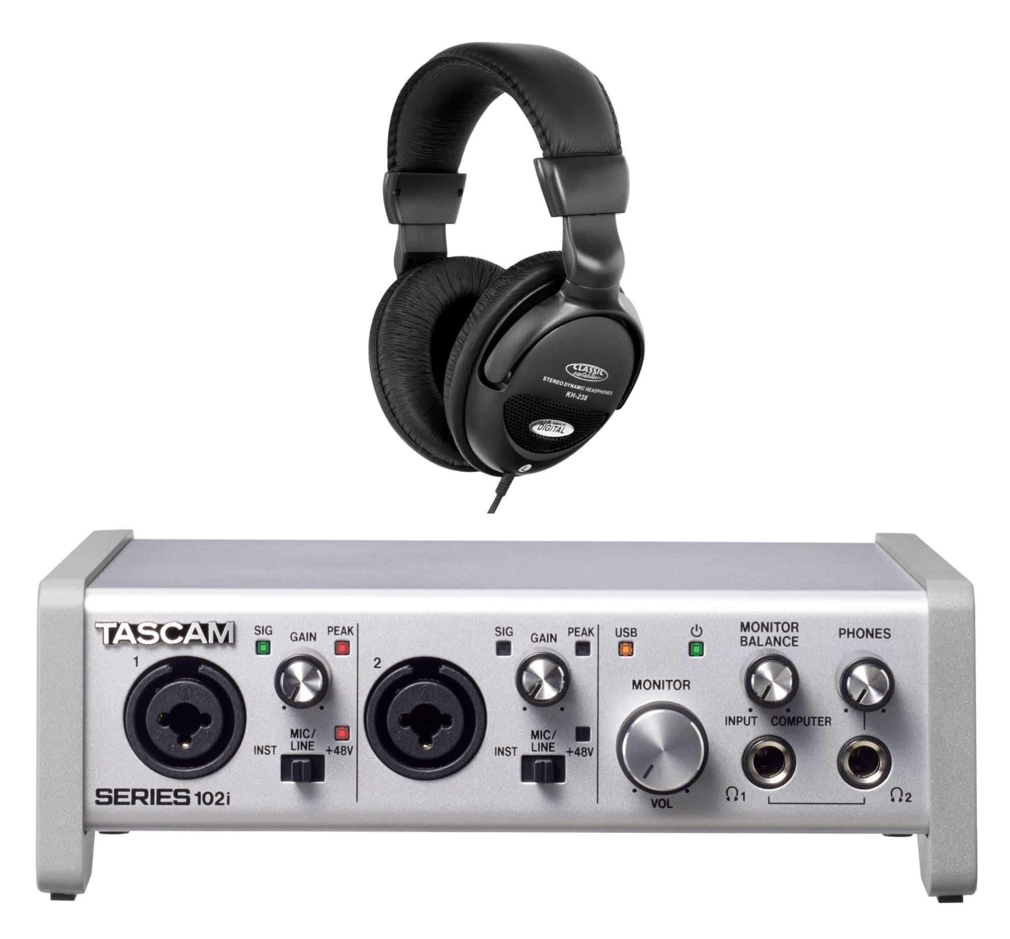 Pchardware - Tascam Series 102i USB Audio Interface Set - Onlineshop Musikhaus Kirstein