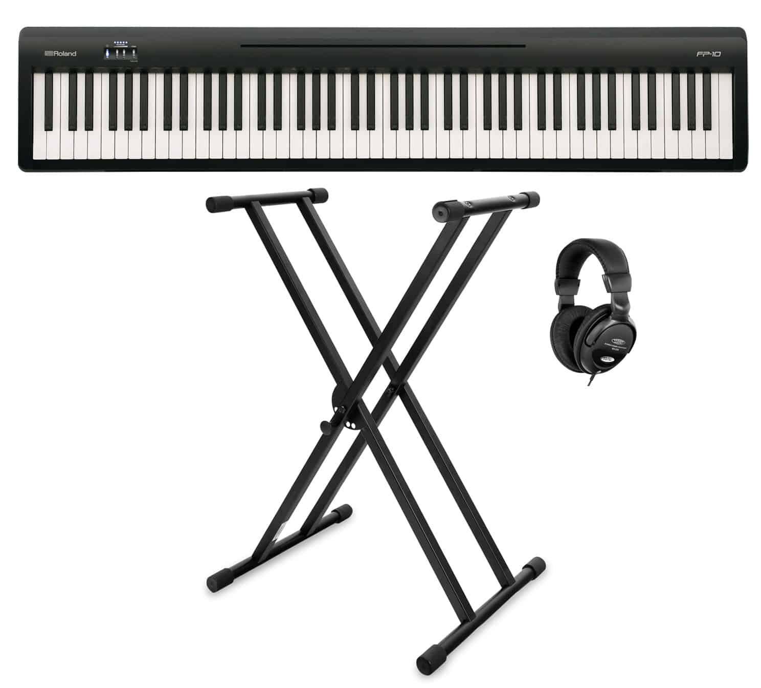 Stagepianos - Roland FP 10 BK Stagepiano Starter Set - Onlineshop Musikhaus Kirstein