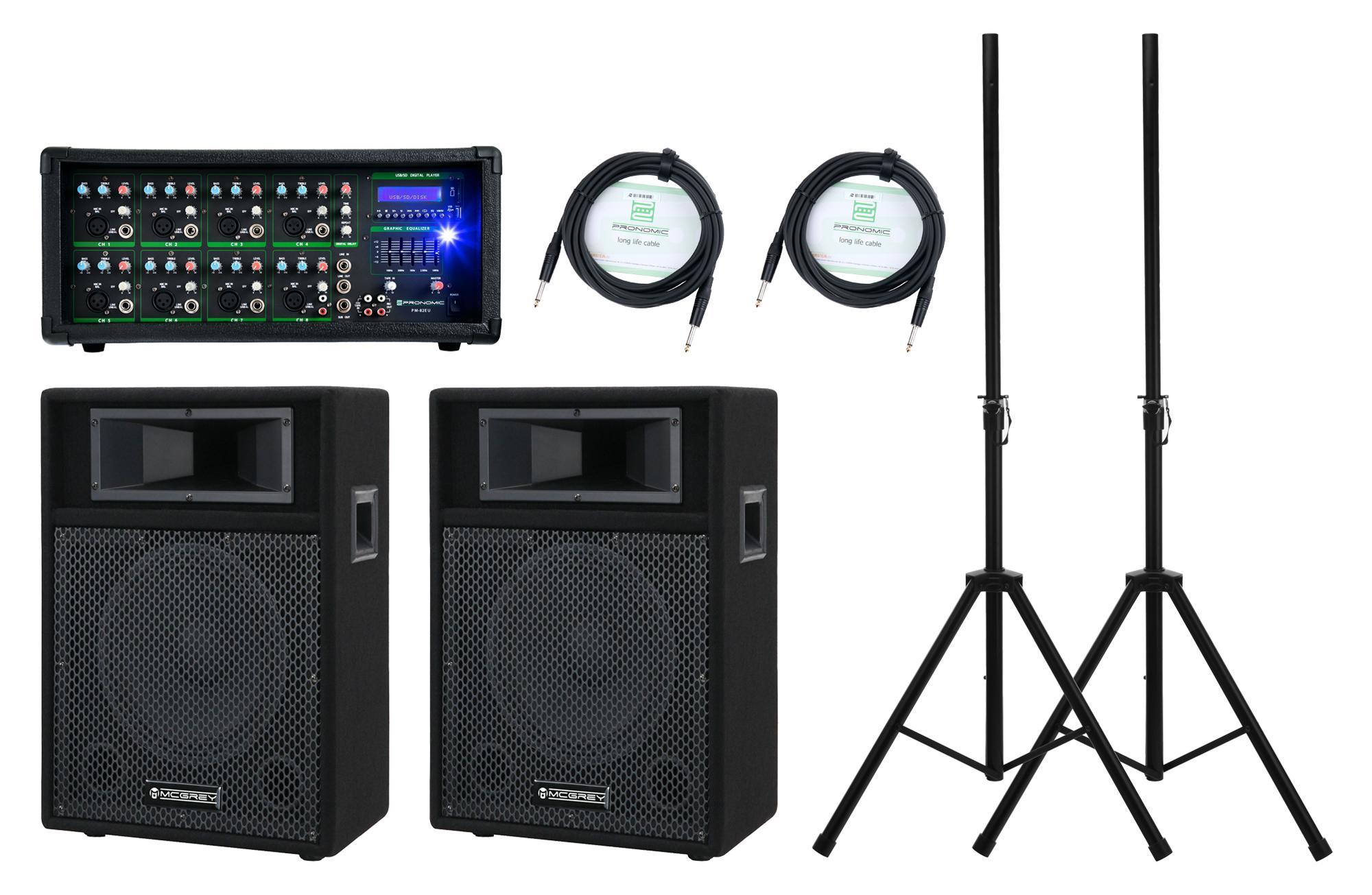 Boxenkomplettanlagen - Pronomic PM82 110 StagePower PA Set - Onlineshop Musikhaus Kirstein