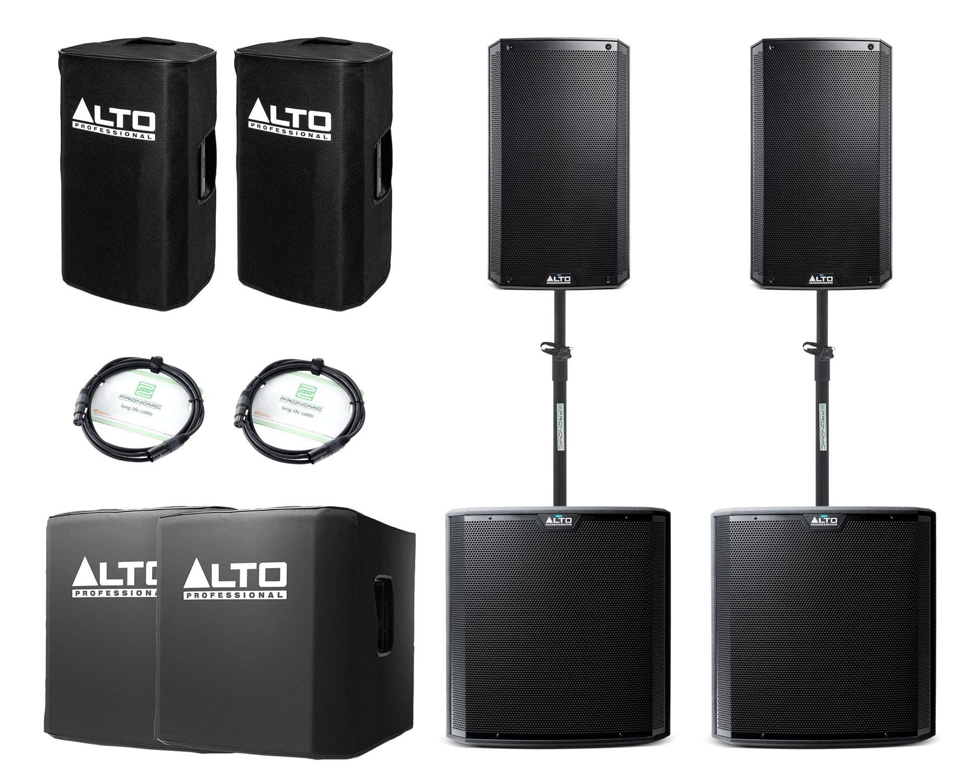 Alto TS212|TS215S Aktivanlagen Set inkl. Zubehör