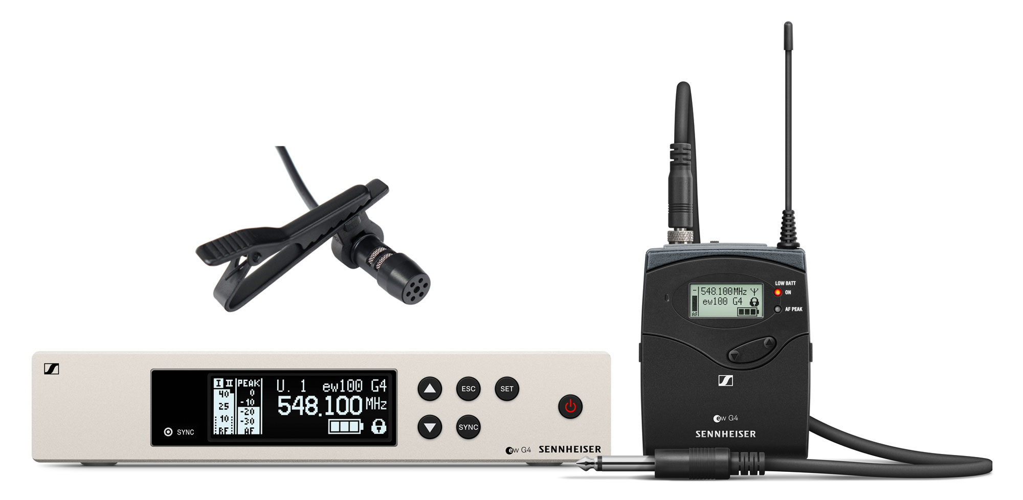 Drahtlossysteme - Sennheiser EW 100 G4 Ci1 Instrument Funkset E Band inkl. LA 30 EA Lavaliermikrofon - Onlineshop Musikhaus Kirstein