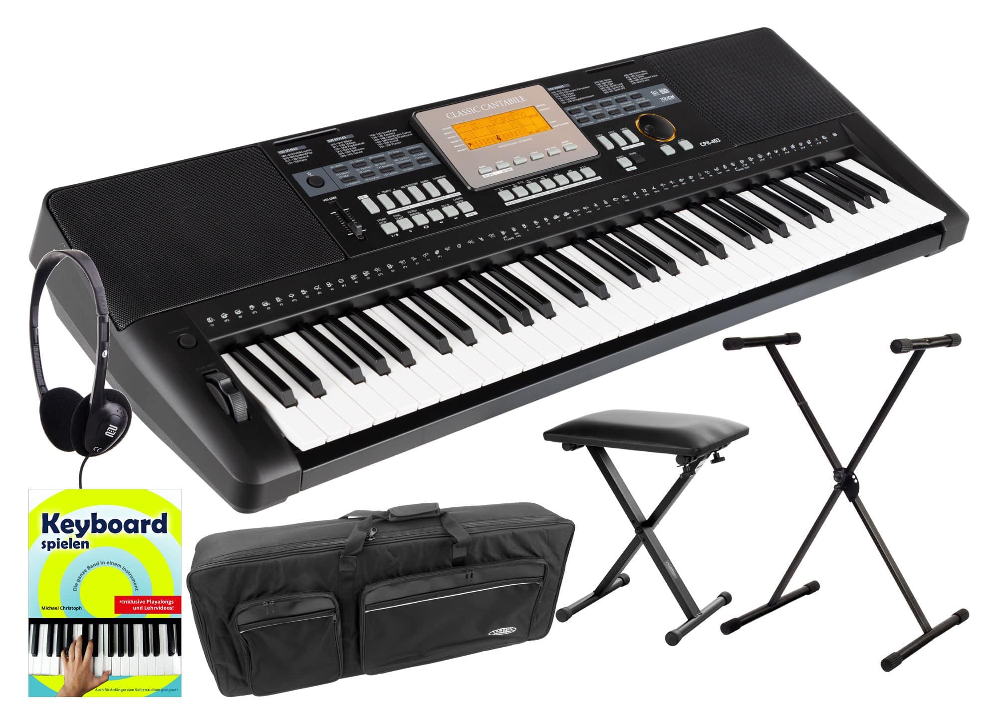 Homekeyboards - Classic Cantabile CPK 403 Keyboard Deluxe Set - Onlineshop Musikhaus Kirstein