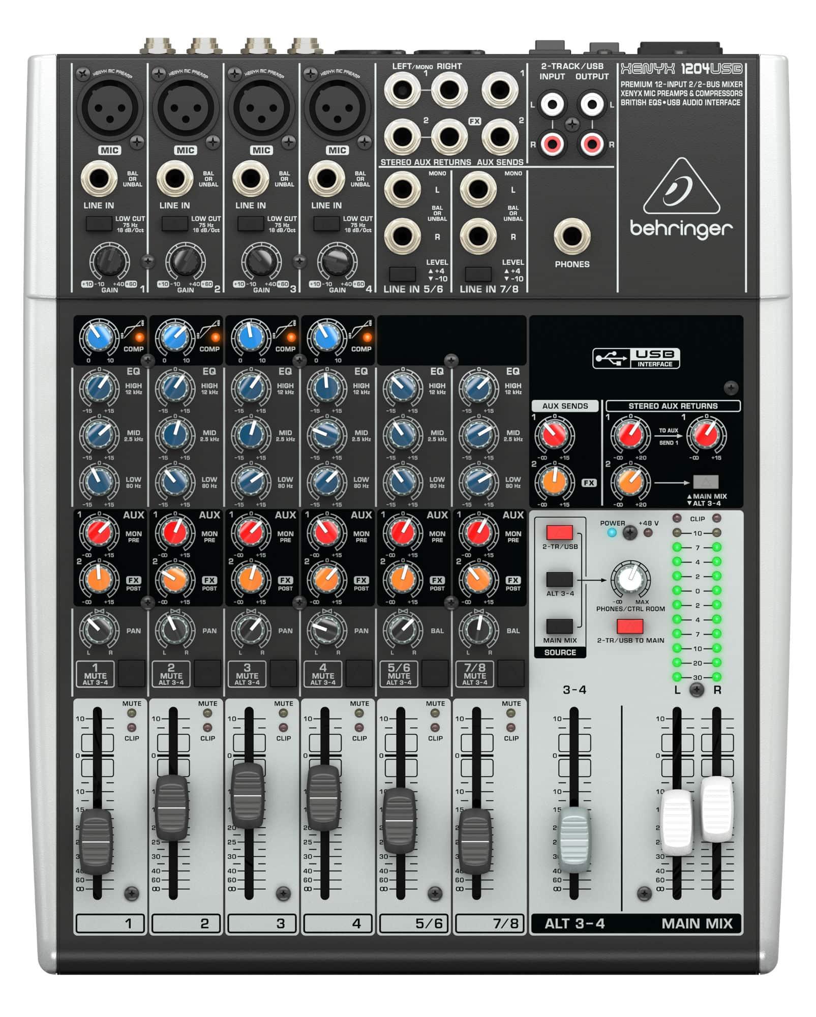 Mischpulte - Behringer Xenyx 1204USB Mixer - Onlineshop Musikhaus Kirstein
