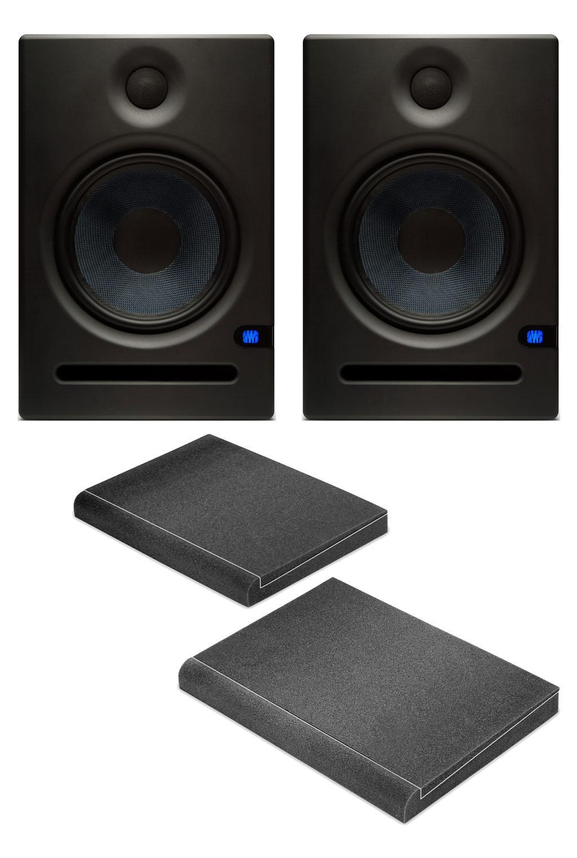 PreSonus Eris E8 Aktives Studiomonitor Paar inkl. Absorberplatten
