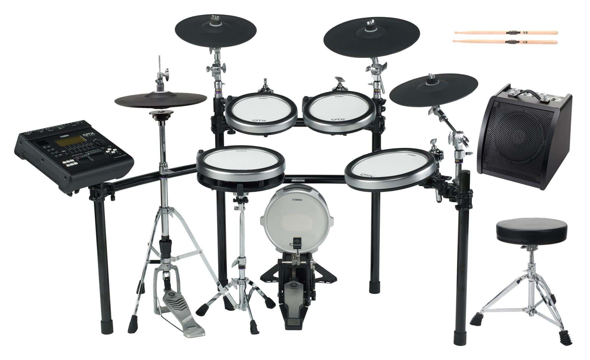 Yamaha DTX920K E Drum Kit SET 2 mit Hocker, Sticks und Drummonitor