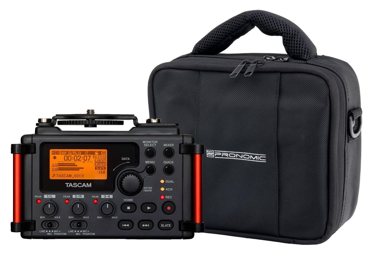 Tascam DR 60D MKII Digitalrecorder für Kameras im Set inkl. Recordertasche