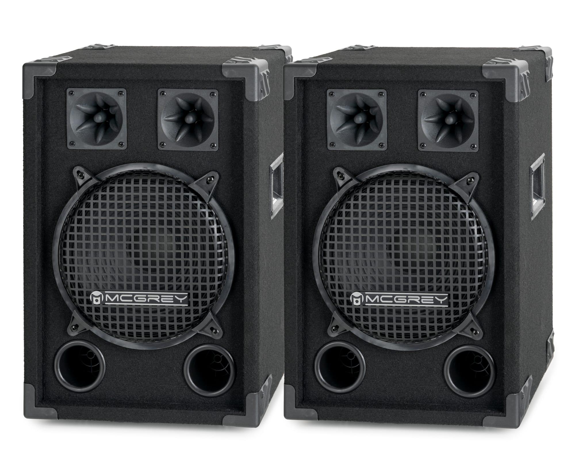 McGrey DJ 1022 Partykeller|DJ Box Paar 2 x 400W