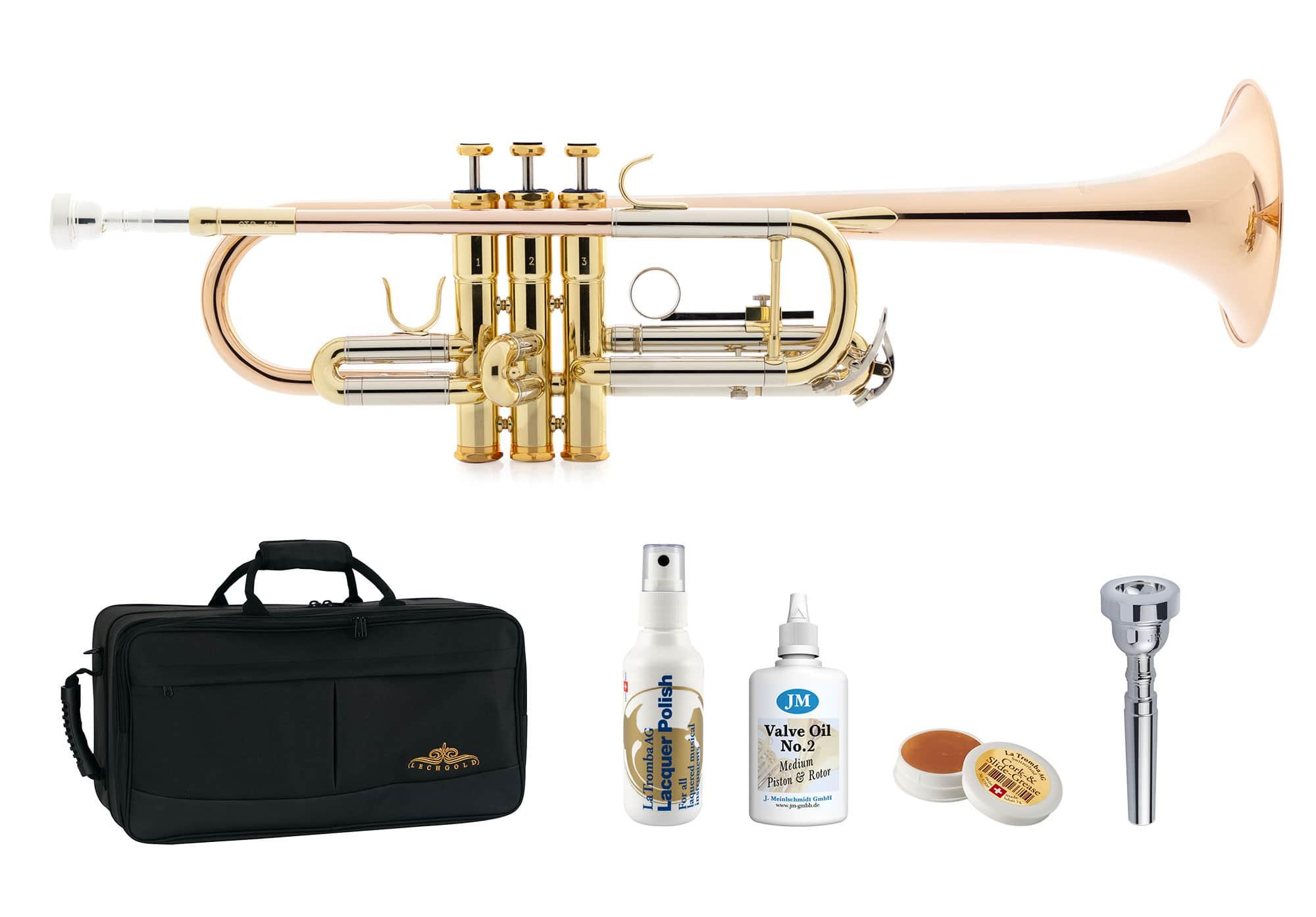 Trompeten - Lechgold CTR 18L C Trompete lackiert Deluxe Set - Onlineshop Musikhaus Kirstein