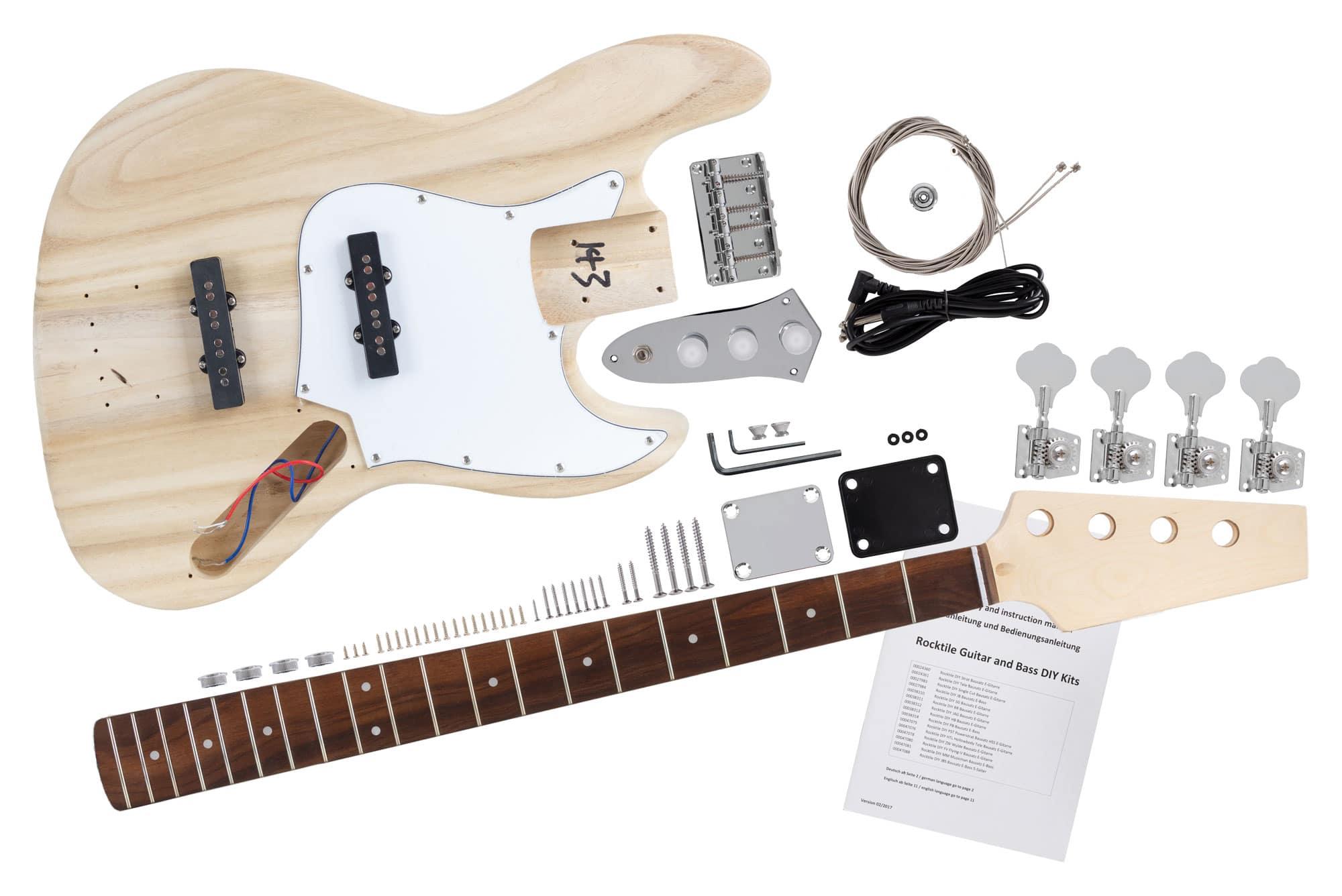 Schema Elettrico Jazz Bass : Kit costruzione fai da te basso elettrico corde stile