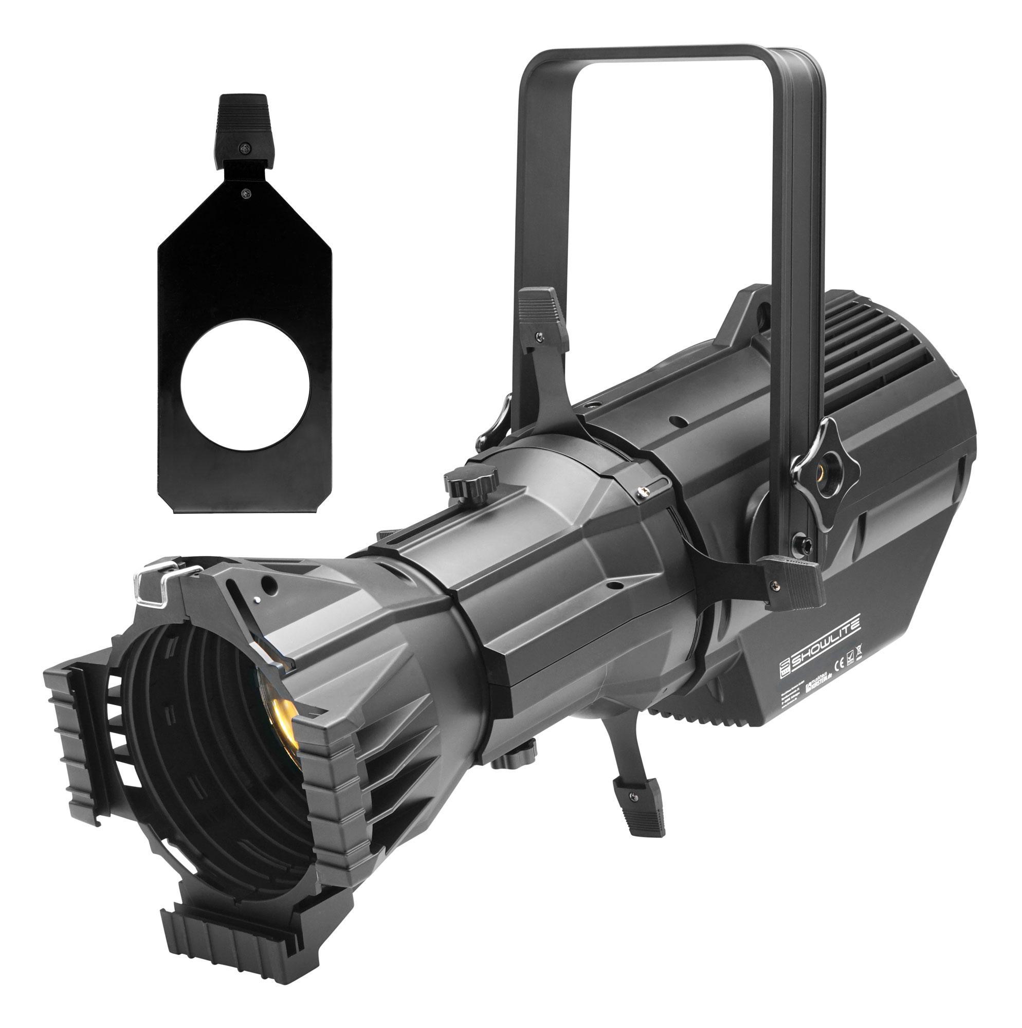Showlite CPR 60|26 RGBW COB LED Profilscheinwerfer 26° 180 Watt SET mit Gobohalter