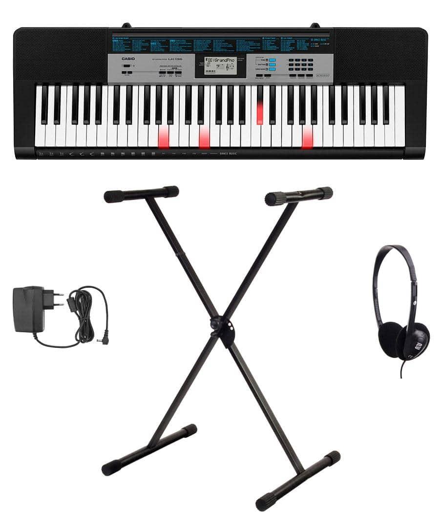 Casio LK 136 Leuchttasten Keyboard Set