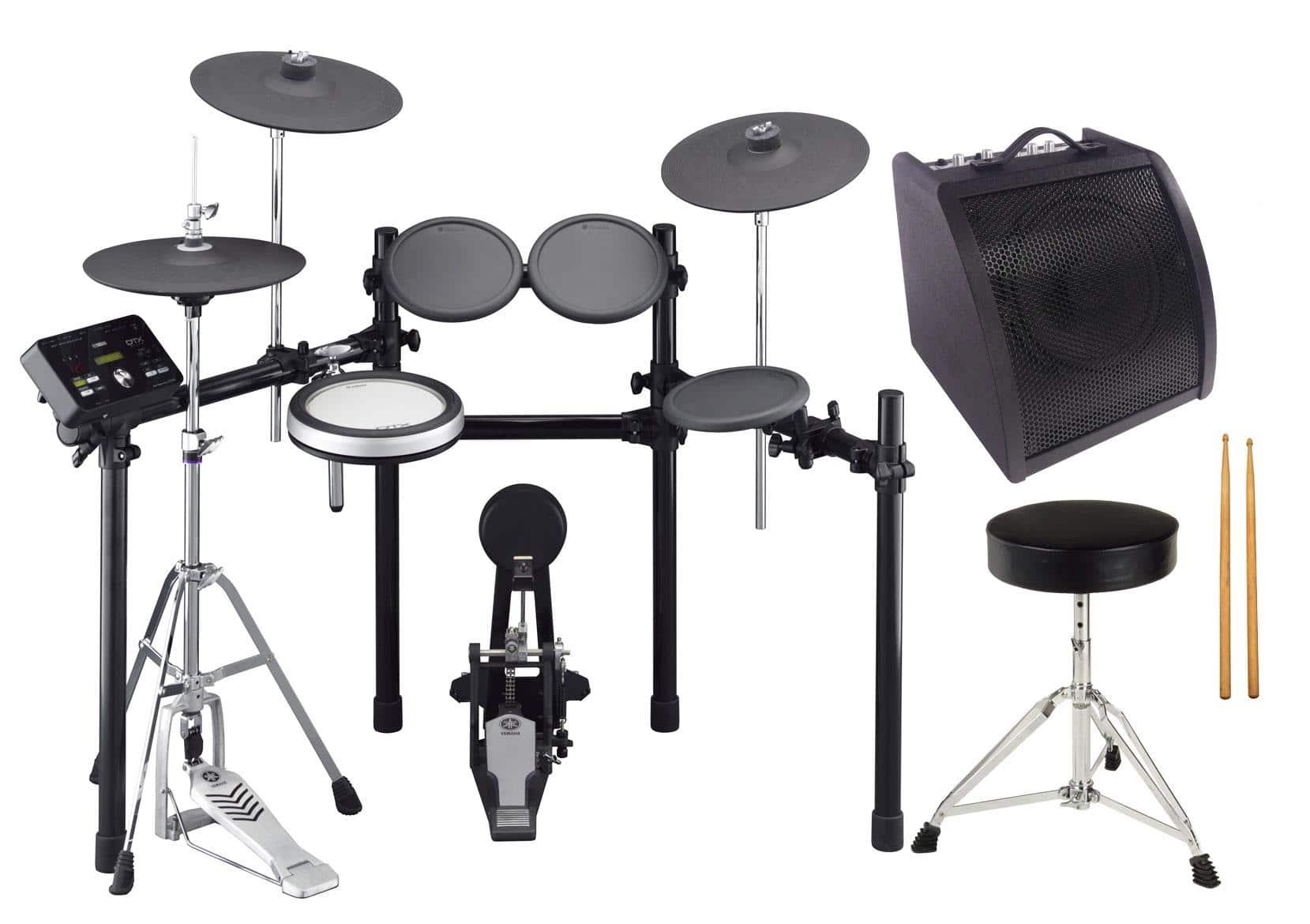 Yamaha DTX532K Compact E Drum Set Komplettset 2 Hocker, Sticks, Drummonitor