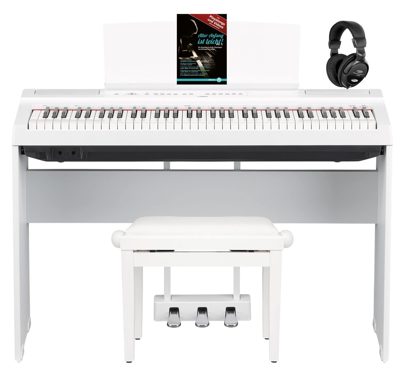 Yamaha P 121WH Stage Piano Komplettset Weiß